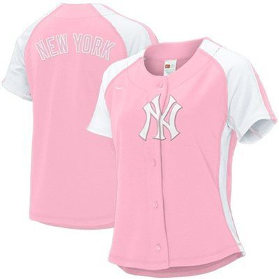 Nike New York Yankees Pink Ladies Jersey  b070547099a