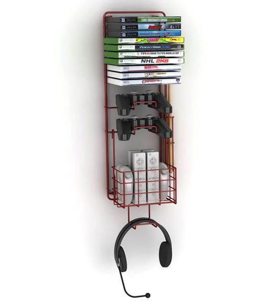 With the Wall Mount Video Game Rack you can keep your home organized and free of