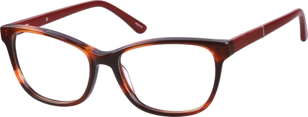 1ee389cb35 Zenni Womens Cat-Eye Prescription Eyeglasses Black Tortoiseshell Plastic  4425721