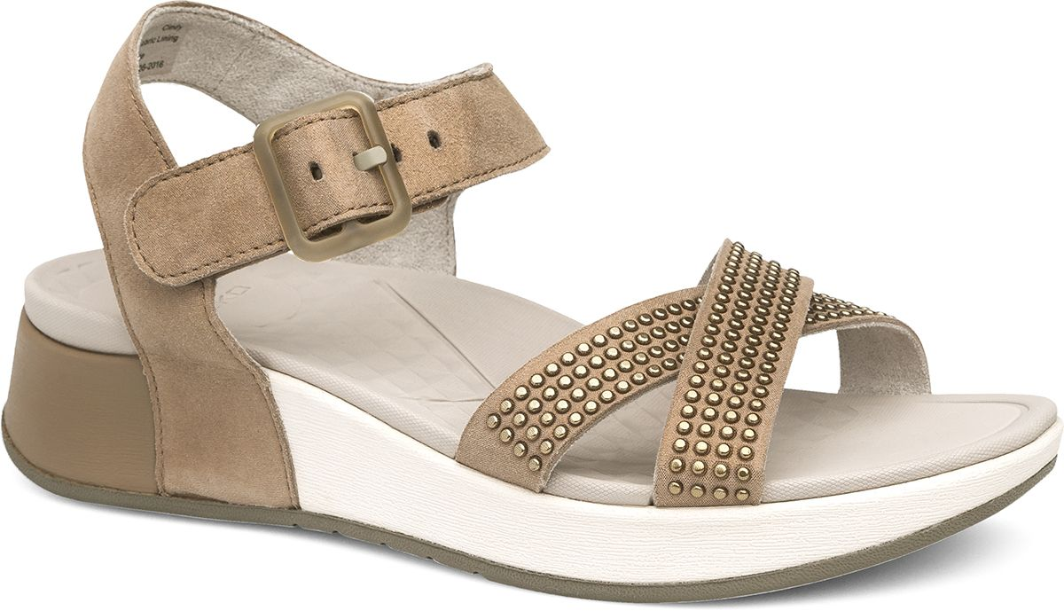 5e50ac00b54d Cindy - Cross-strap sport sandal in Taupe! Dansko Shoes