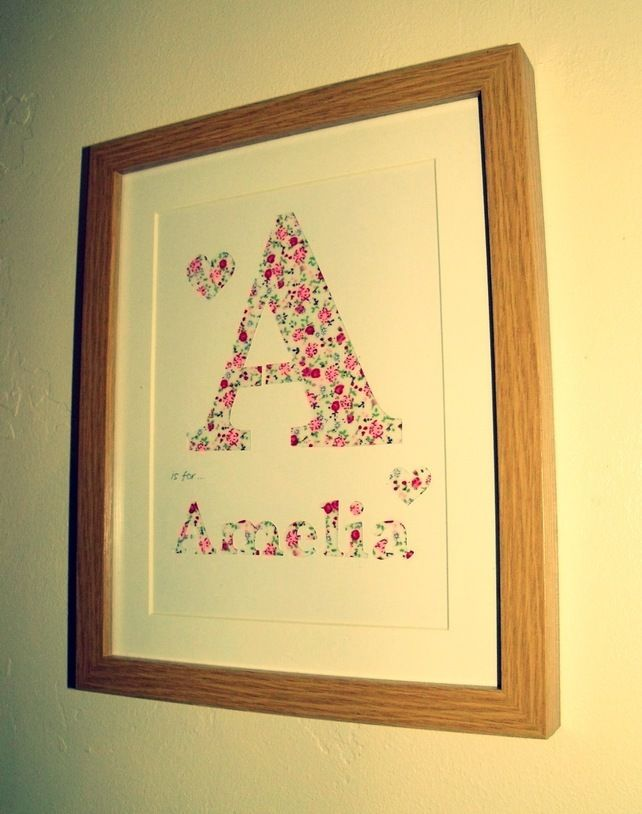 Framed+Name+Initial+Letter+Hand+Papercut+Wall+Art £12.00 | Letters ...