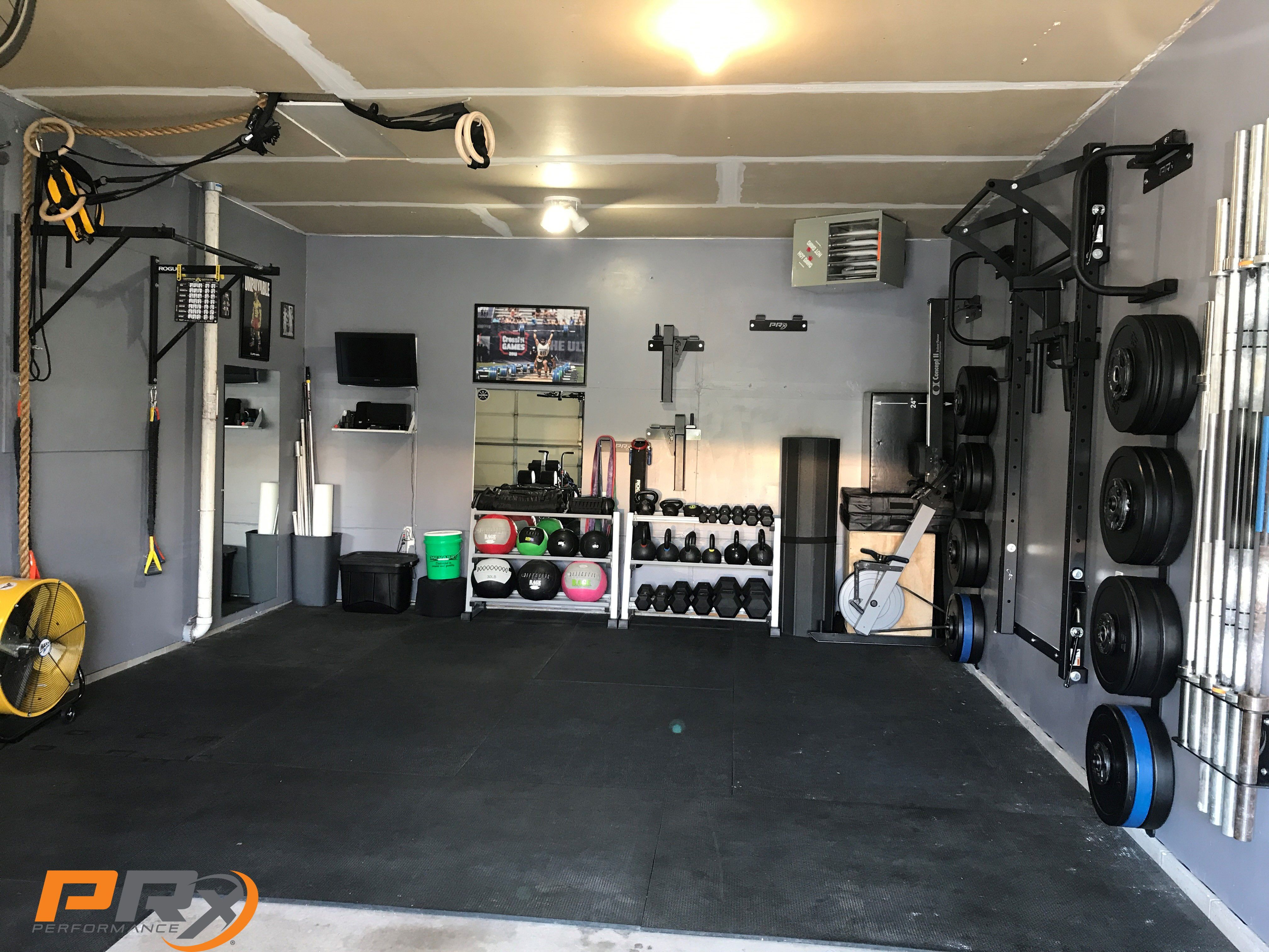 Make Your Home Gym Feel Like Exactly That Home Gym Room At Home Home Gym Decor Home Gym Design