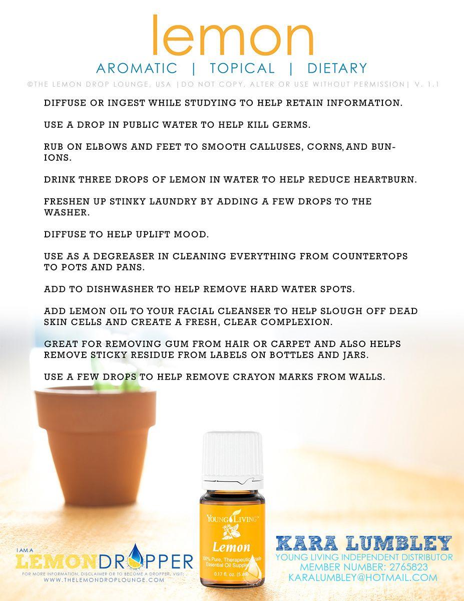 Essential Oil Uses for Lemon
