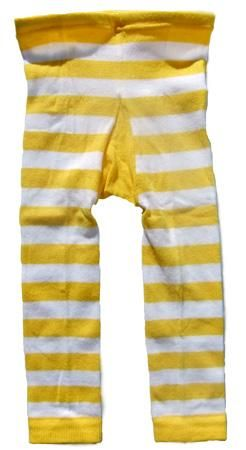 3adef1f0d1626 Striped footless tights in yellow & white by Metsola | Boho kids ...