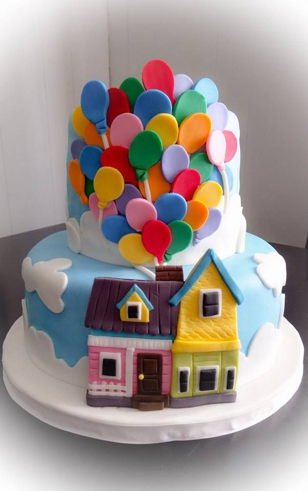 Fabulous Up Cake Disney Pixar By Allthatfrost Com With Images Personalised Birthday Cards Paralily Jamesorg