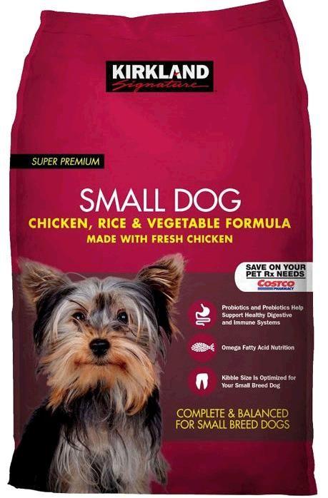 Kirkland Signature Small Formula Chicken Vegetable Dog Food 20 Lb Dog Food Recipes Wet Dog Food Small Breed