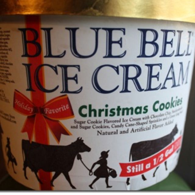 Blue Bell Christmas Cookie Ice Cream. Pretty much the best ice cream in the world. (Except ...