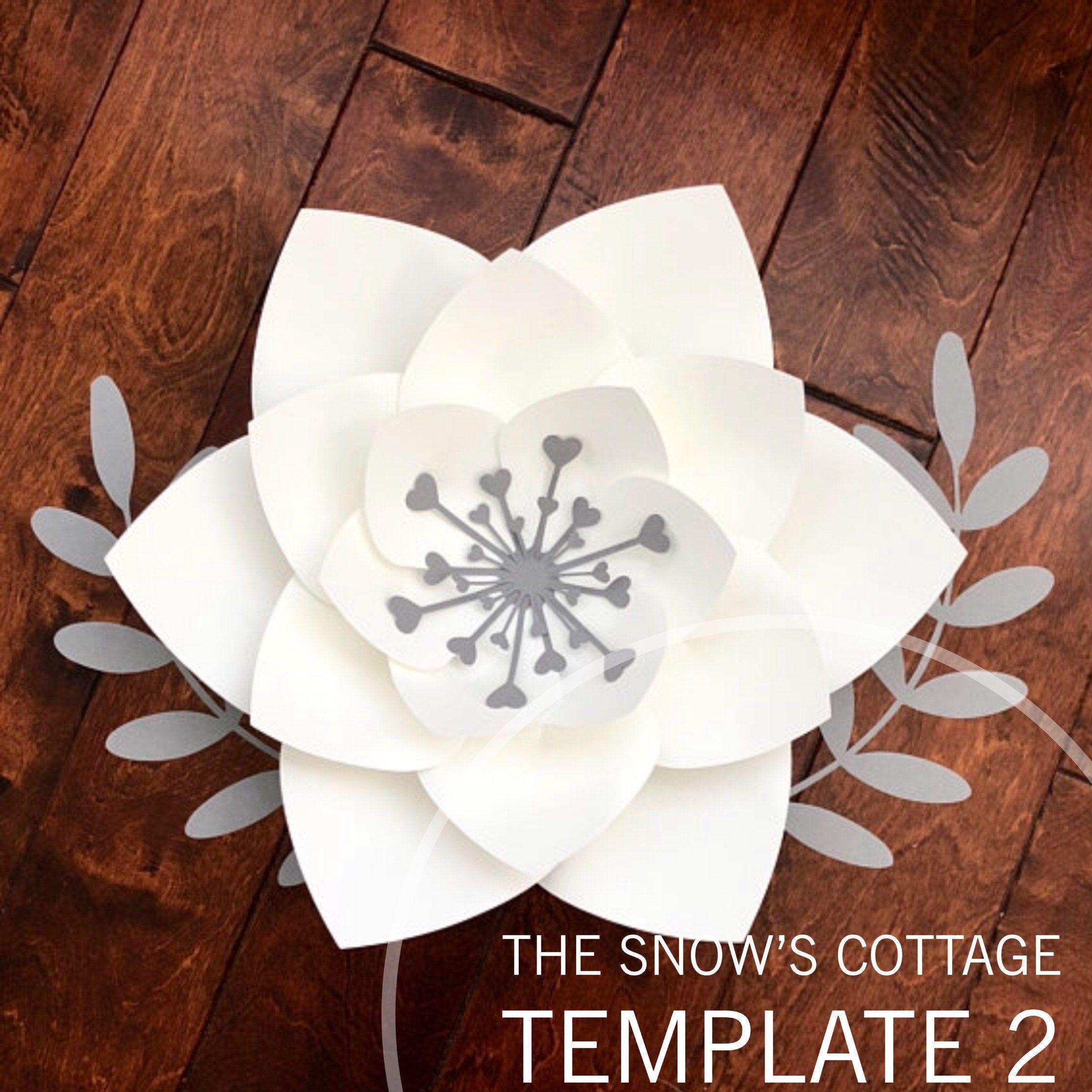Instant Download SVG Paper Flower Petal Template for Petal  DIY