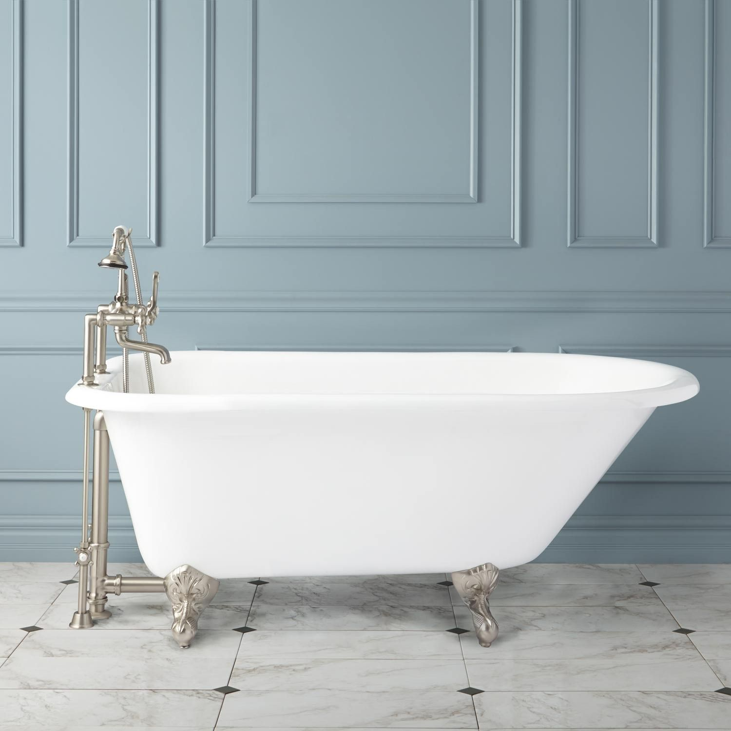 Celine Cast Iron Clawfoot Tub 1 189 00 57in 1 229 00 61in