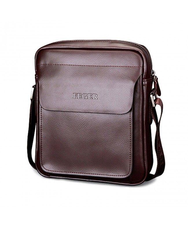 Mens Leather Messenger Bag Stylish Small Shoulder Bag For