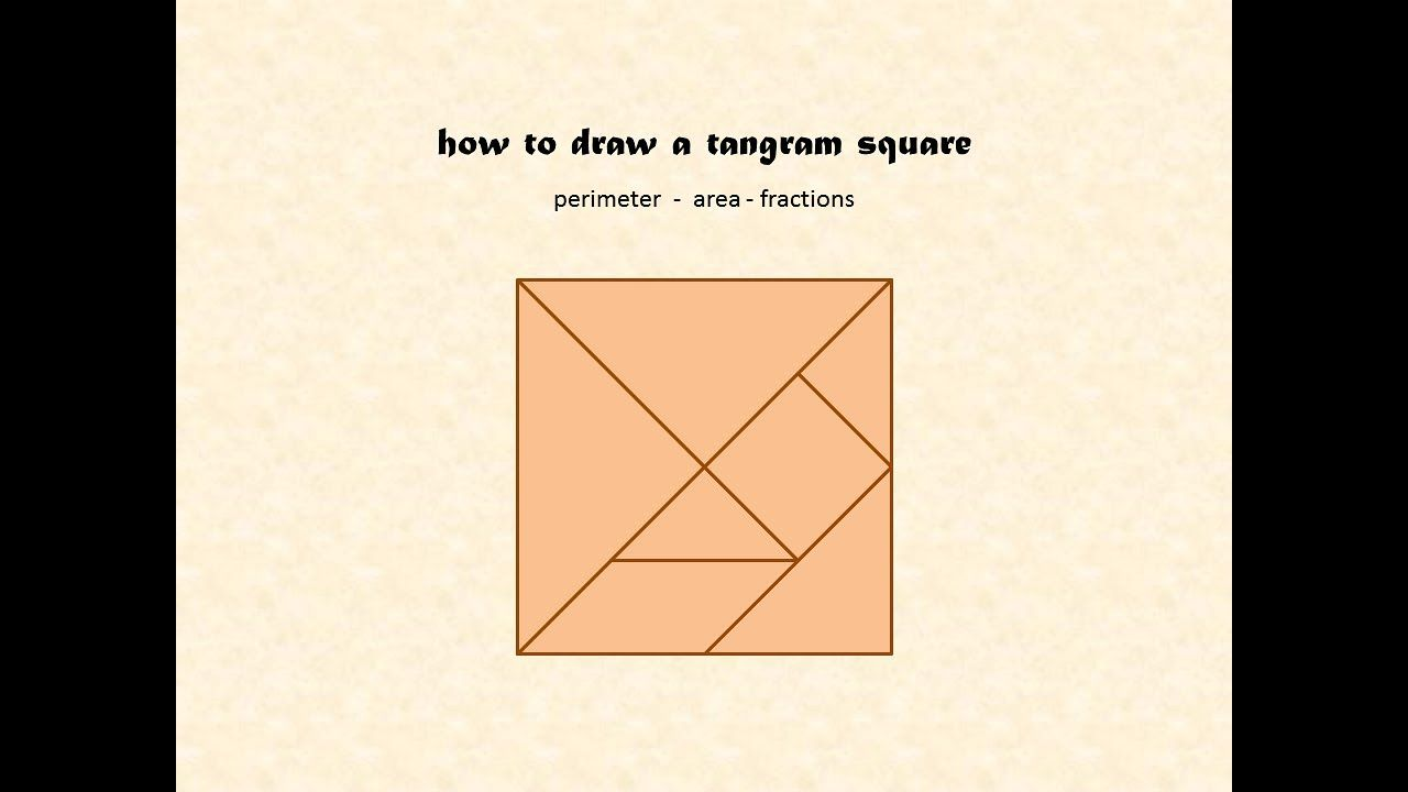 small resolution of How to draw a Tangram - area