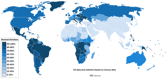 List Of Religious Populations Wikipedia The Free Encyclopedia - World map of religion population