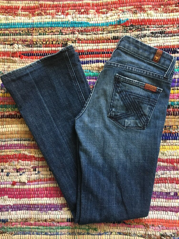 7 For All Mankind Womens Flynt Bootcut Jeans Size 25 29 Inseam