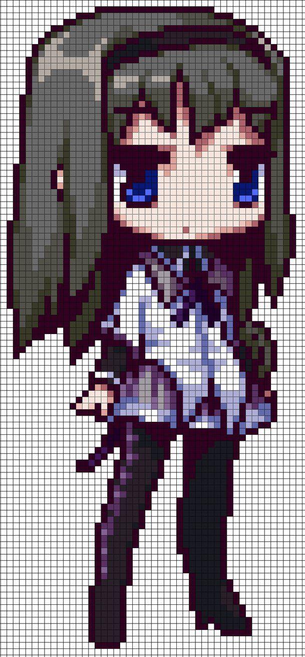 PMMM Homura Akemi Pattern Anime pixel art, Pixel art