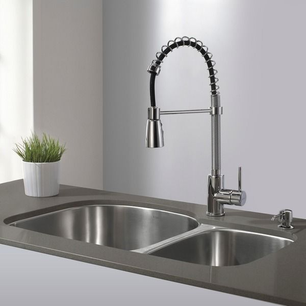 Exceptional Kraus Single Lever Modern Spiral Pull Out Kitchen Faucet