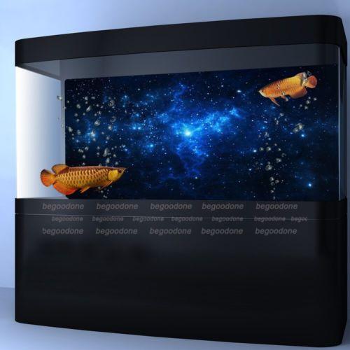 Star Dust Aquarium Background Poster Fish Tank Landscape Decoration 24 48 72inch Aquarium Backgrounds Landscape Decor Fish Tank