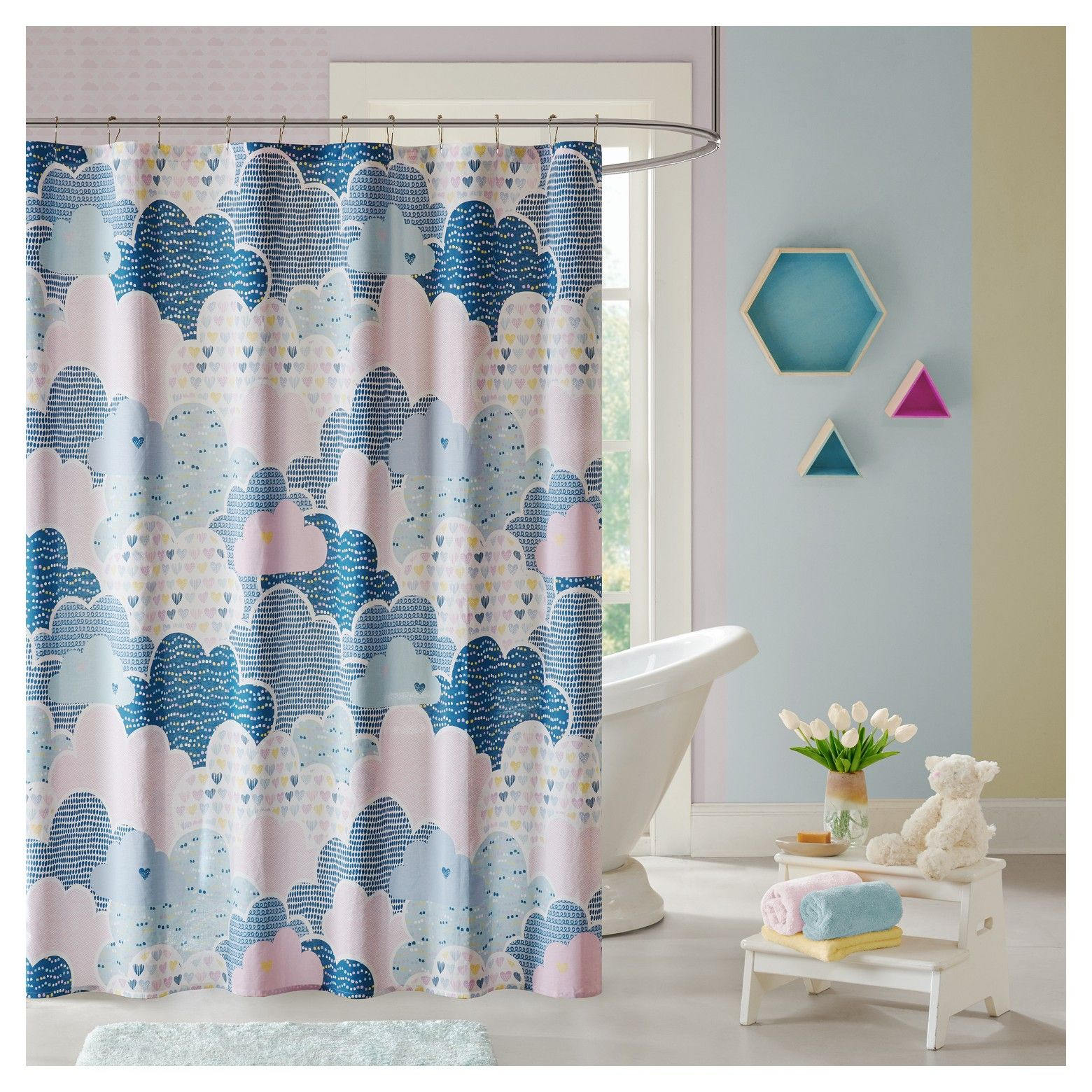Float Among The Clouds With The Colorful Euphoria Shower Curtain