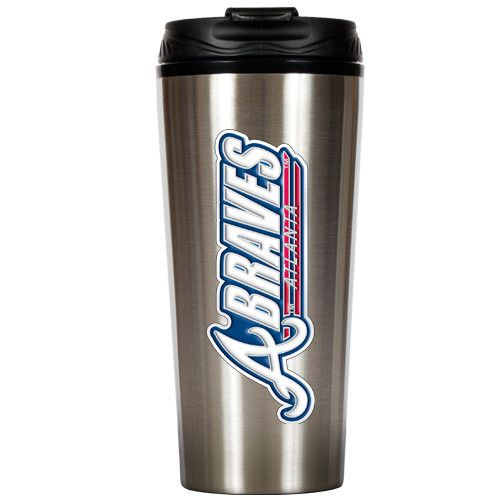 MLB Atlanta Braves Slim Stainless Steel Travel Tumbler