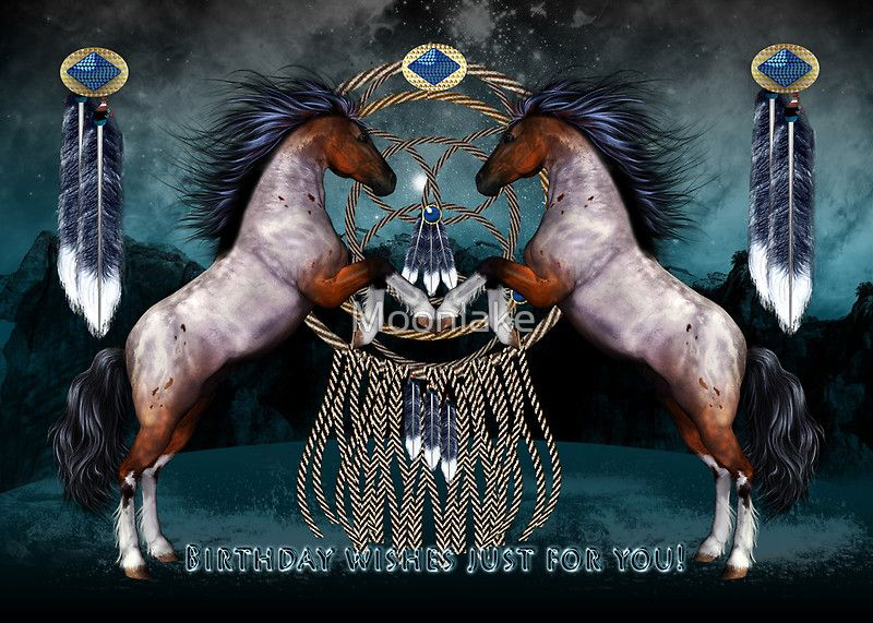 Images of natives for happy birthday google search birthday native american style ponies with dream catcher poster created by moonlake bookmarktalkfo Choice Image