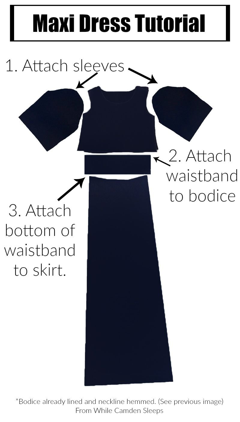 DIY maxi dress with lots of pictorial instructions. Fool proof ...