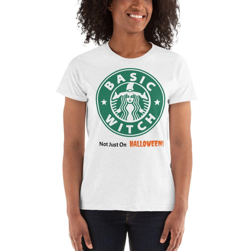 Basic witch halloween ladies tshirt shirts t shirts