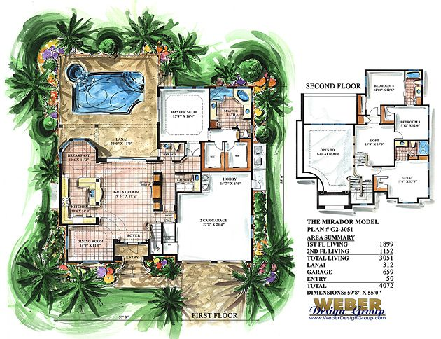 Mediterranean House Plan 2 Story Narrow Lot Home Floor Plan Mediterranean Style House Plans Mediterranean House Plans How To Plan