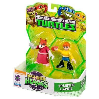 Teenage Mutant Ninja Turtles Half Shell Heroes Splinter et avril figures