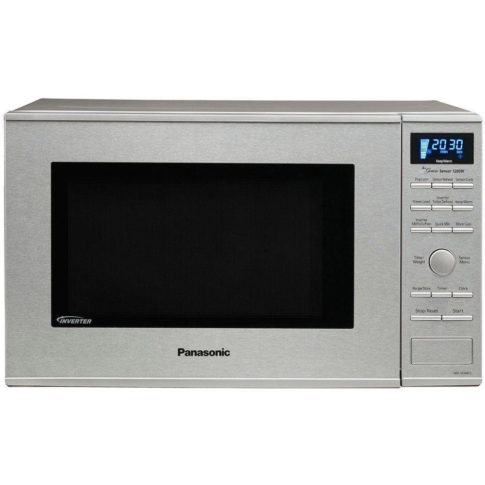 Amazon Com Panasonic Nn Sd681s Genius Prestige 1 2 Cuft 1200 Watt Sensor Microwave With In Built In Microwave Countertop Microwave Countertop Microwave Oven