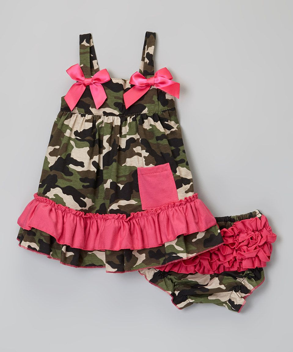 b9c79aeae9dcd Another great find on #zulily! Pink & Camo Swing Top & Diaper Cover ...