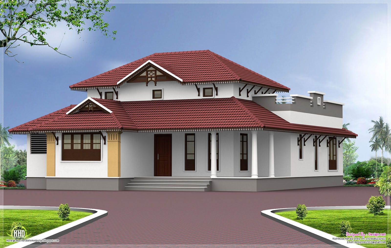 Exterior Designs Of Home With One Floor In India
