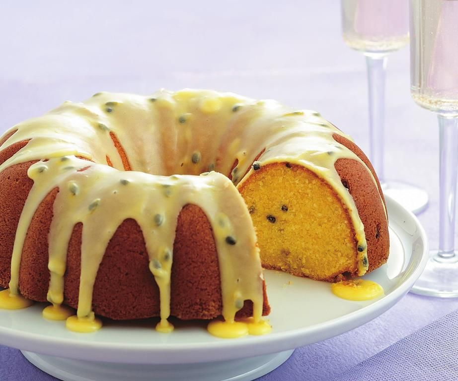 Passionfruit Buttermilk Syrup Cake Recipe Buttermilk Recipes Buttermilk Cake Recipe Syrup Cake