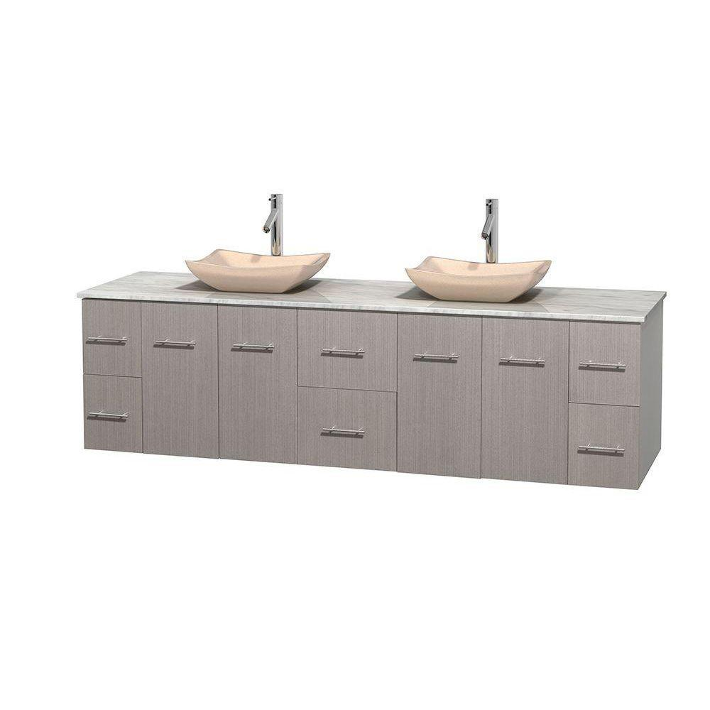 Wyndham Collection Centra 80 in. Double Vanity in