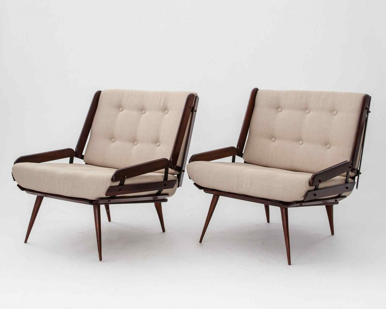 Jacaranda Lounge Chairs by Carlo Hauner for Mobilinea, 1956, Set of 2 1