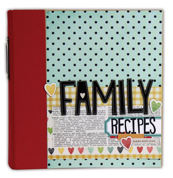 Family recipes binder by crafts direct using a snap binder and the family recipes binder by crafts direct using a snap binder and the homespun collection by forumfinder Gallery