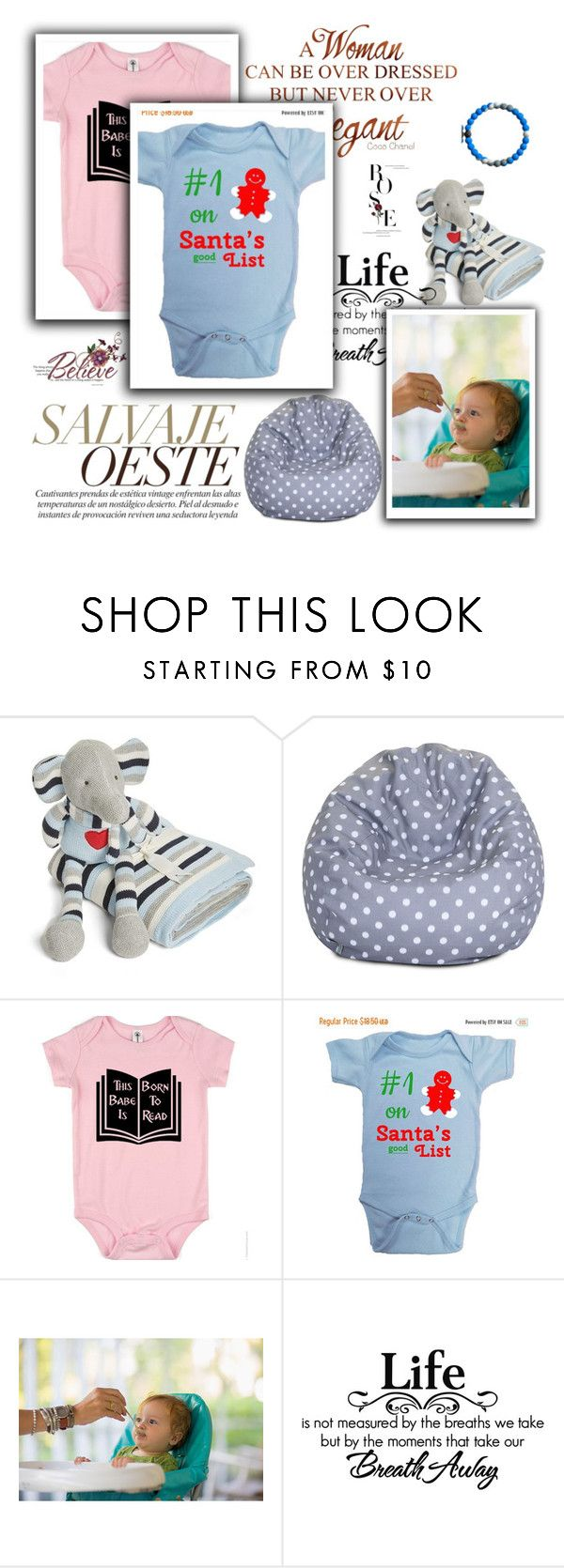 """""""NerdGirlTees 6"""" by ramiza-rotic ❤ liked on Polyvore featuring Elegant Baby and Dot & Bo"""
