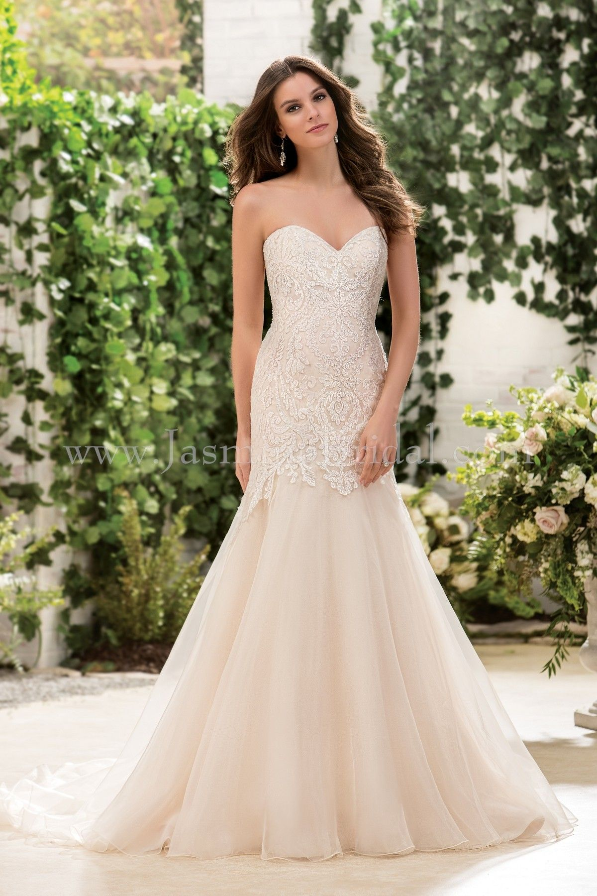 Jasmine Bridal Collection Style F181062 In Ivory Vintage