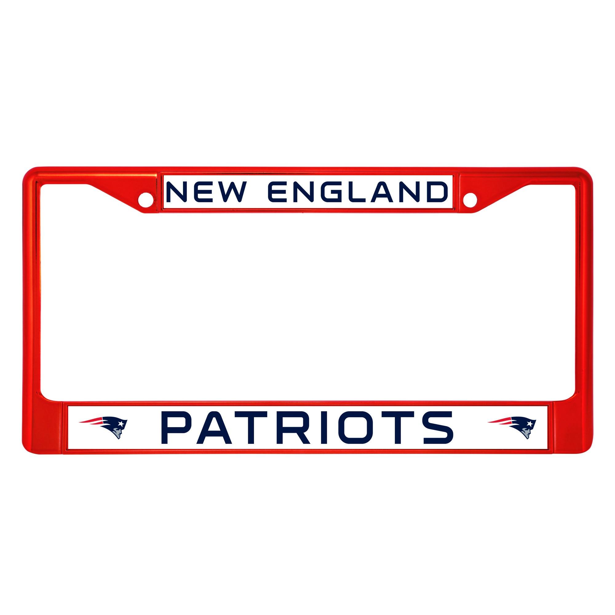 NFL New England Patriots License Plate Frame | License plate frames ...