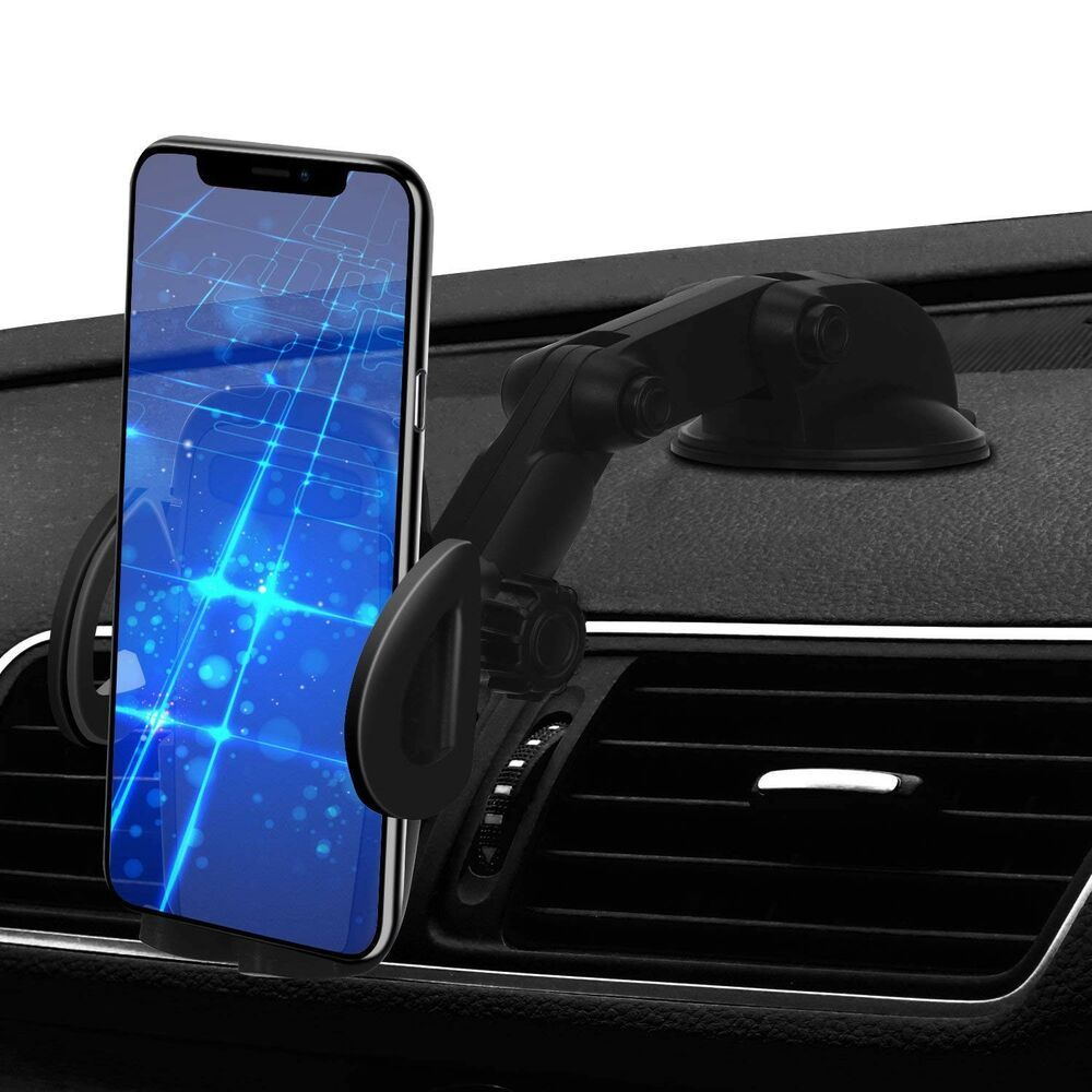 Car phone mount 2 in 1 windshield dashboard cell phone