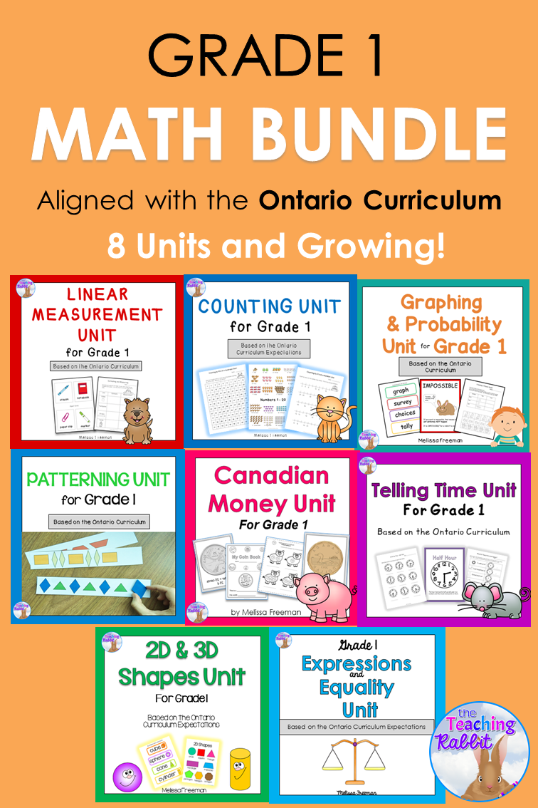 Grade 1 Math Units Full Year Bundle | 1st grade math ...
