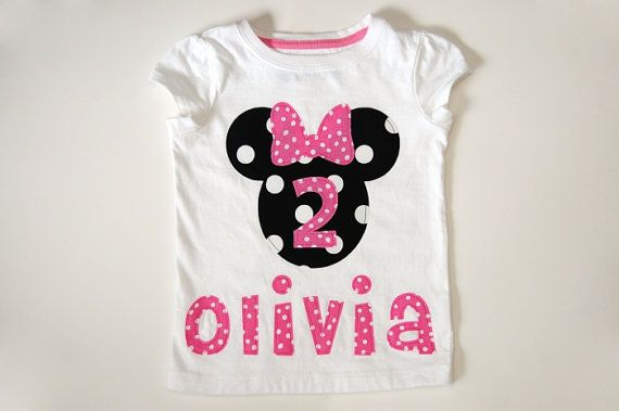 Girls Personalized Minnie Mouse Birthday Shirt