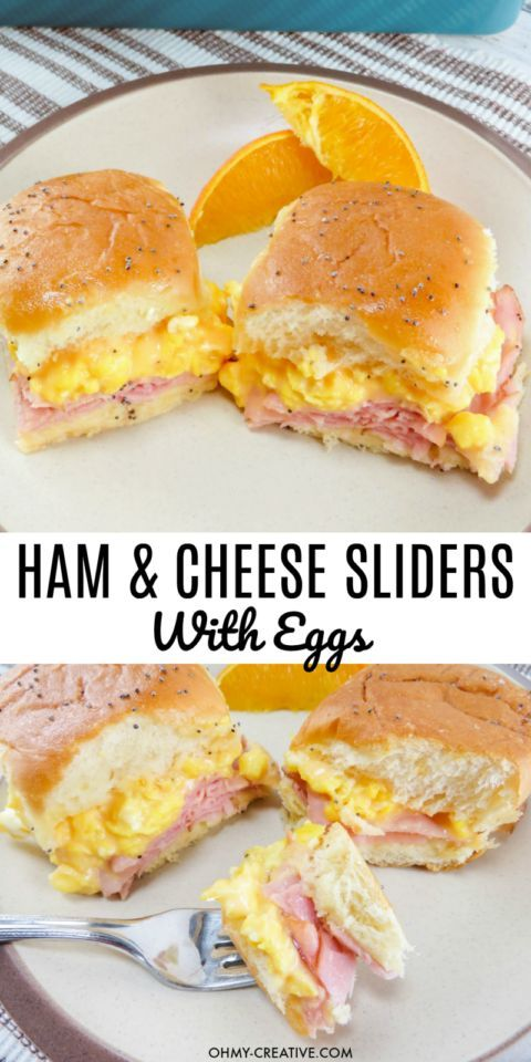 Breakfast Hawaiian Ham And Cheese Sliders Breakfast Hawaiian Ham And Cheese Sliders