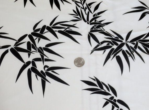 Vintage 1950s1960s Midcentury Mod Bamboo Print Fabric By Linbot1