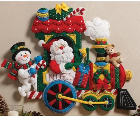 Train Wall Hanging Christmas Felt Lique Kit