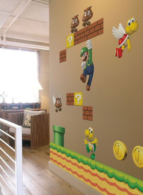 Muurstickers Mario Bros.Cool Kids Wall Stickers For Super Mario Themed Room From Nintendo