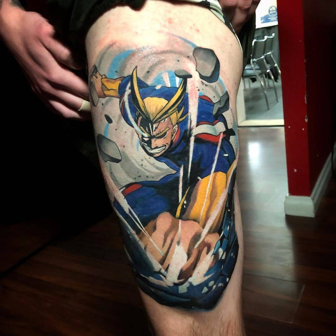 All Might Tattoo Anime And Amazing Tattoos Hero Tattoo Gamer