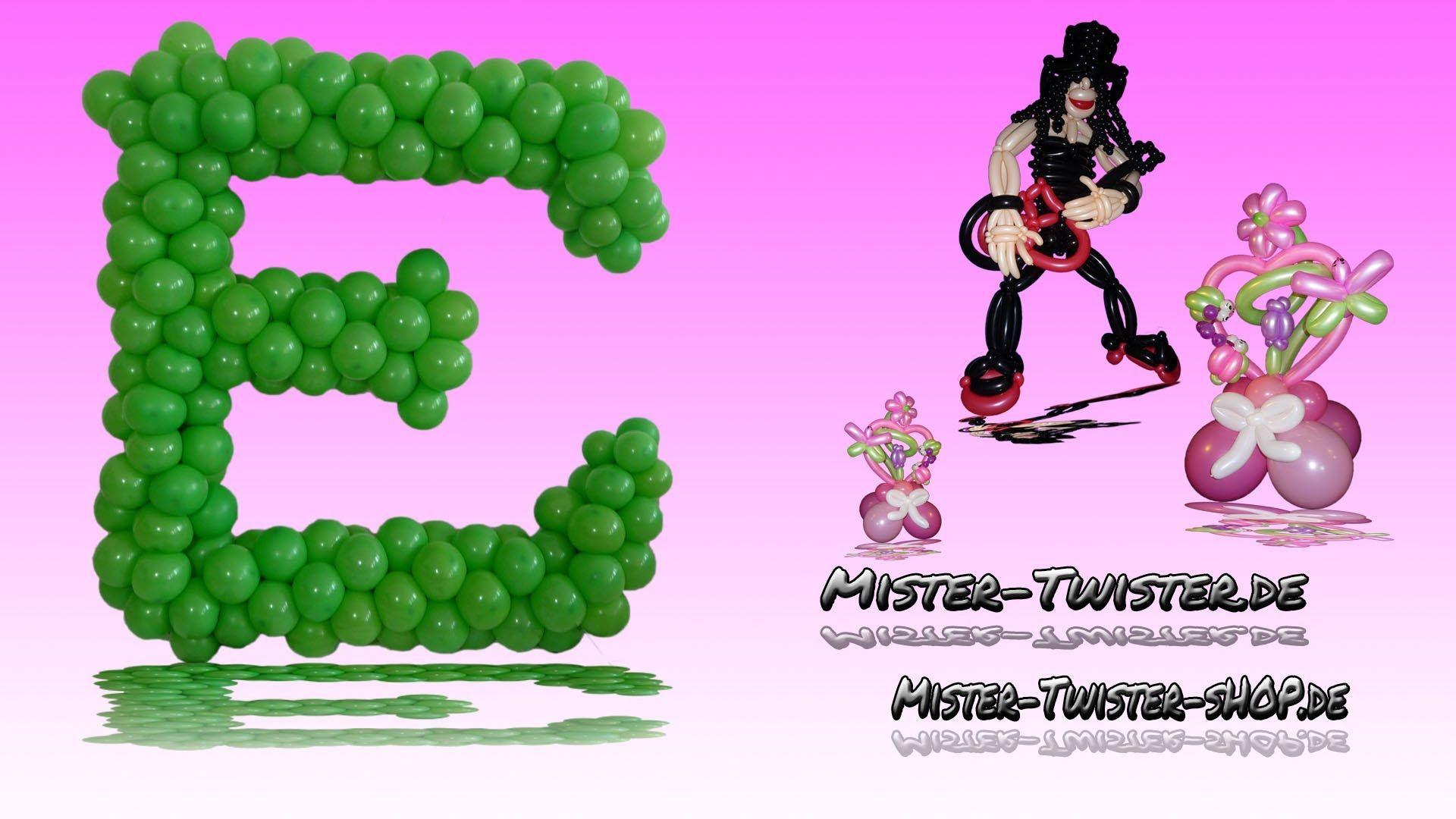 155  How to make a balloon character , Wie mache ich einen Ballon Buchstaben, Dekoration, decoration