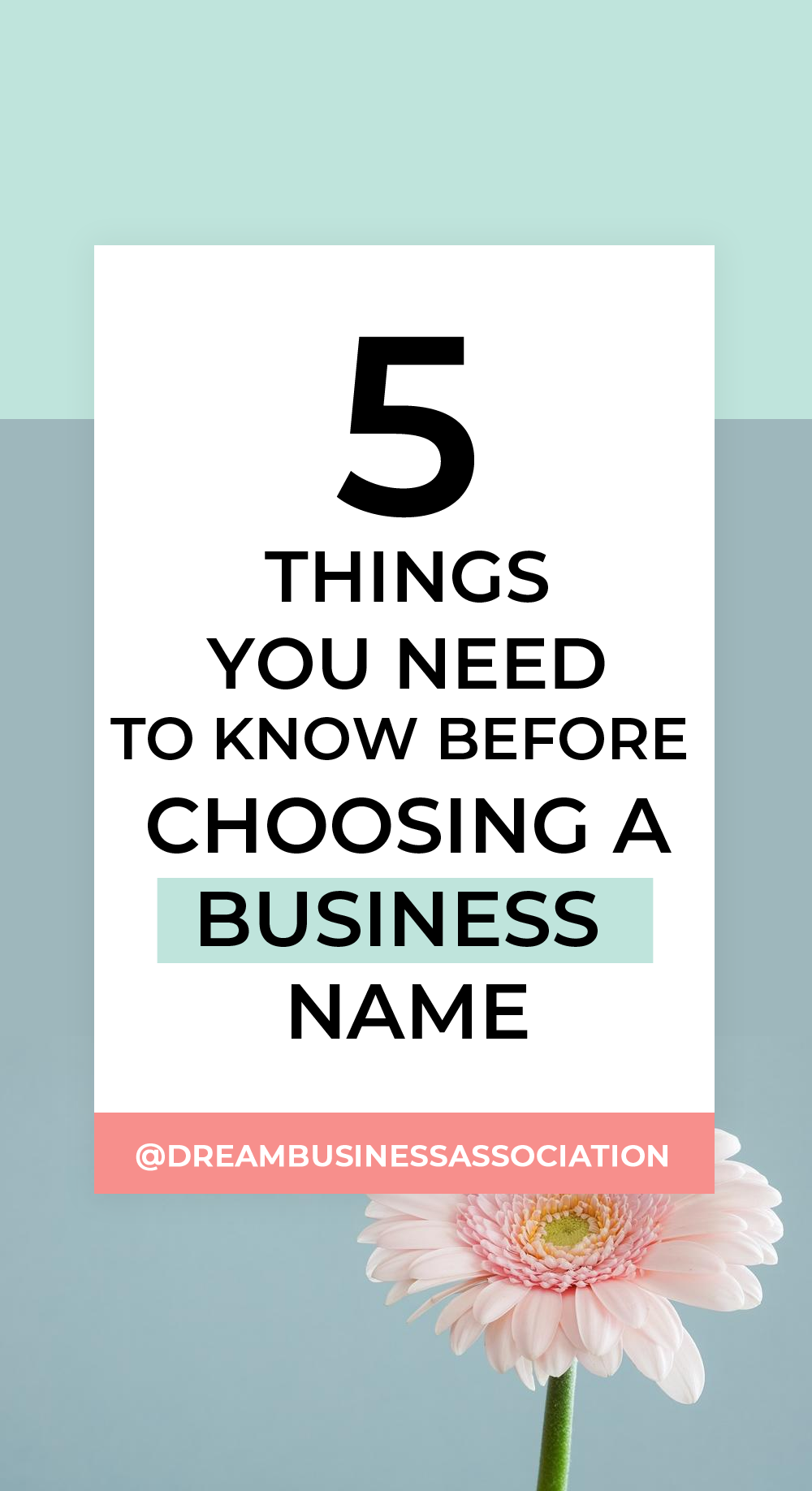 Your business name is the No.1 thing that you need to put the most energy and time into thinking about. So here are my top 5 things you should know before choosing a business name #smallbusiness #startup #selfemployed