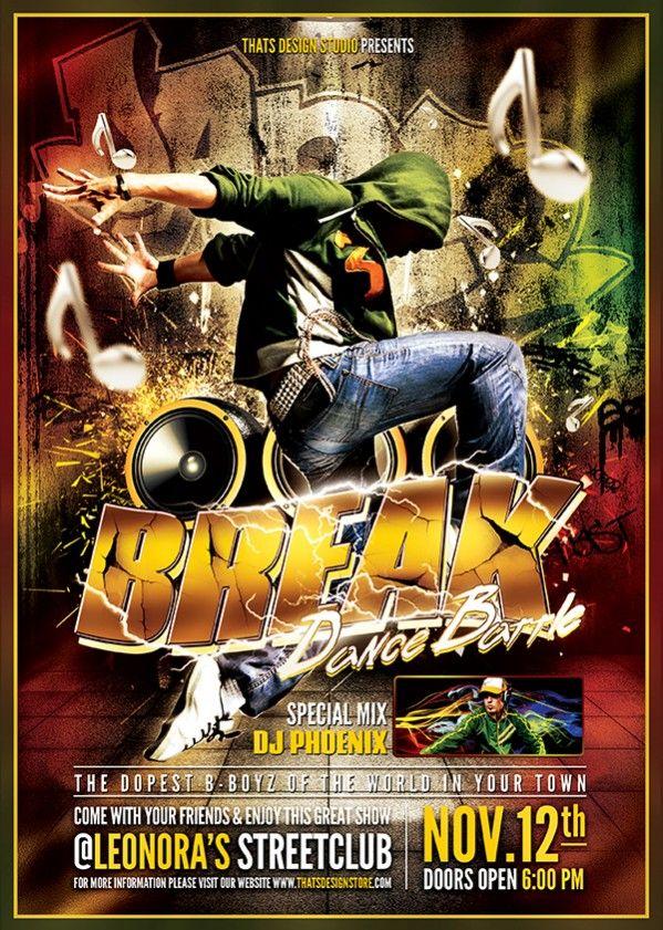 Break dance flyer template v2 saigontimesfo