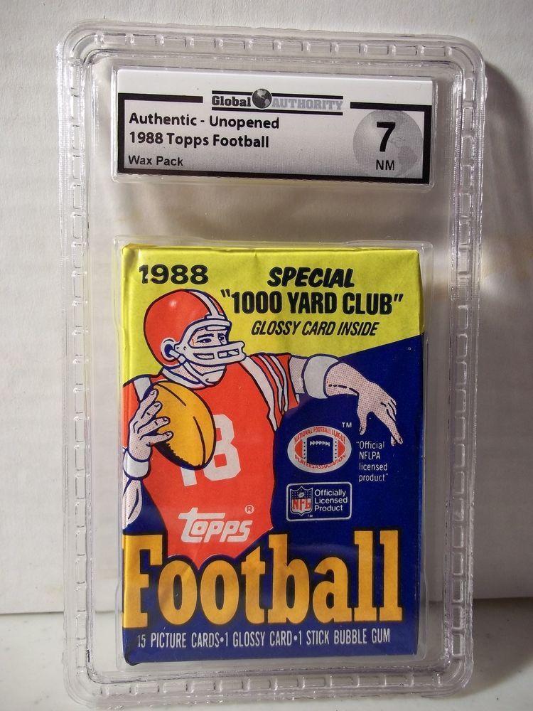 1988 topps football pack ga graded nm 7 bo jackson rc nfl