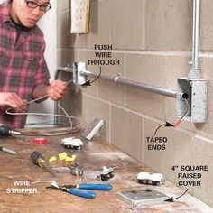 How to Install Surface-Mounted Wiring and Conduit | Home ... Which Wiring Is Suitable For Workshop on
